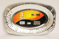 Aluminium Foil Small 3pk Serving Platters